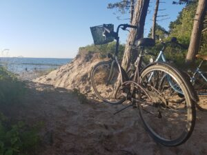 Wypożyczalnia rowerów nad morzem